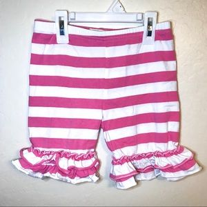 Boutique Little Lu Girls Ruffle Shorts Striped 8